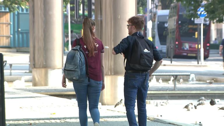 Unidentified students at Bristol University