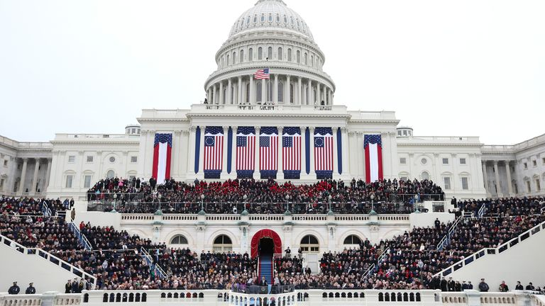 The US presidential inauguration of Barack Obama