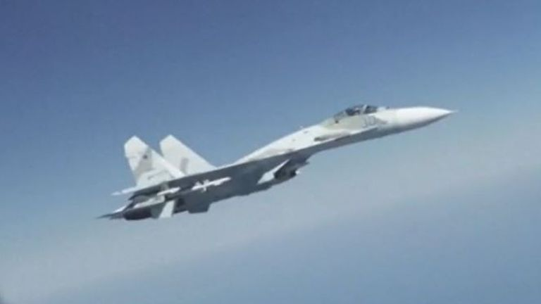 US accuses Russia of intercepting its plane in an 'unsafe' way