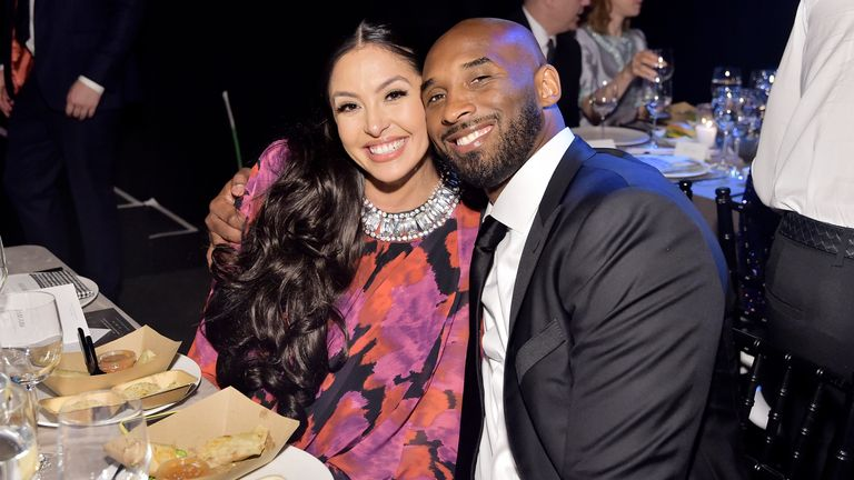 Vanessa and Kobe Bryant at an awards dinner last year