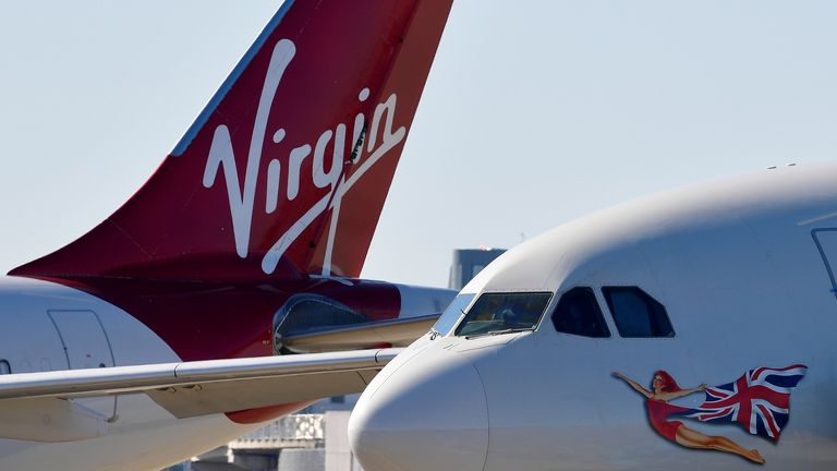 A Virgin Atlantic aircraft