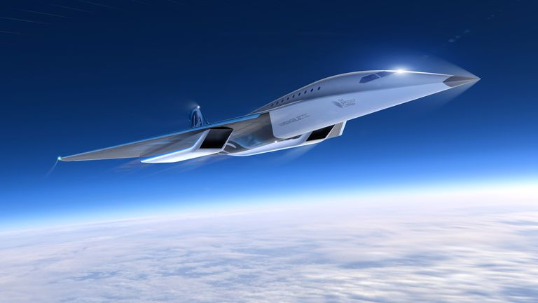 The jet could take passengers to the other side of the world in the space of one morning. Pic: Virgin Galactic
