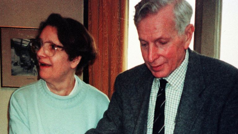 A police-issued photograph of Donald Leslie Ward and his wife Auriel, who were found murdered at their home in Lacey Grove, Wilmslow, Cheshire1/99 evening.