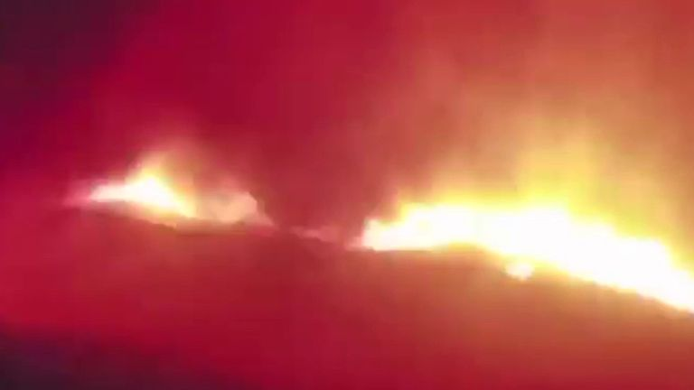 Camera shows wildfire getting closer and closer