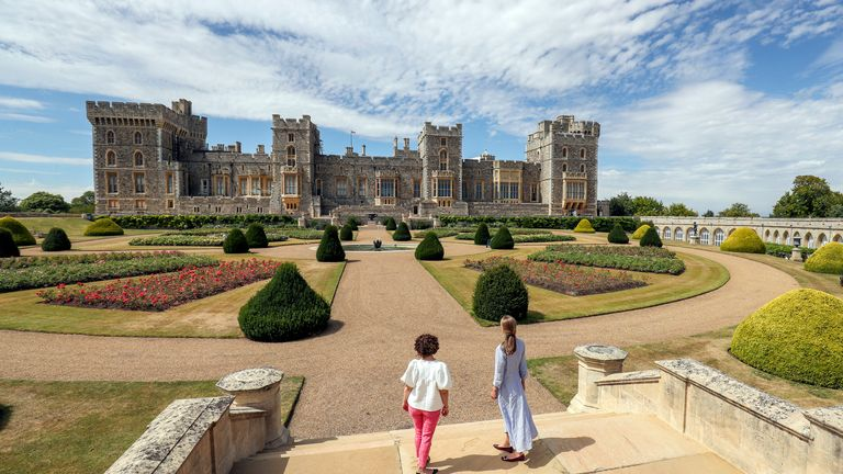 Windsor Castle's East Terrace Garden which will be open to the public for the first time in decades from Saturday.