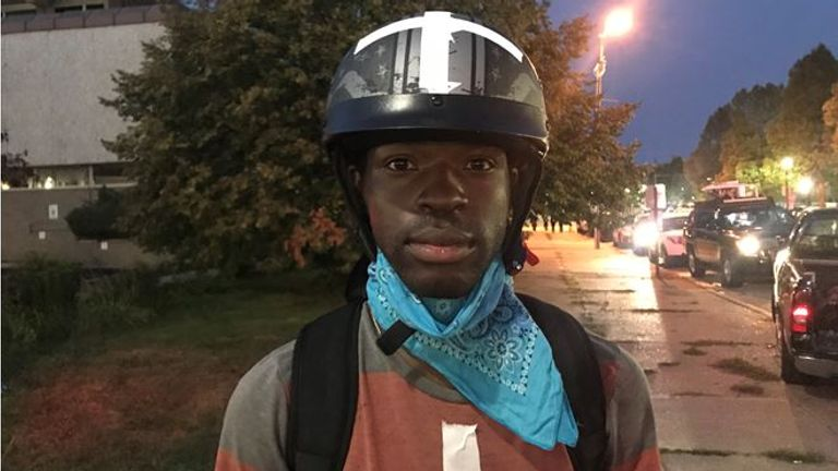 Marque Jones, 23, was working as a volunteer medic at the protests in Kenosha, Wisconsin