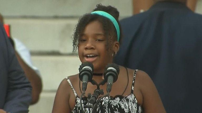 Martin Luther King's granddaughter, Yolanda Renee King