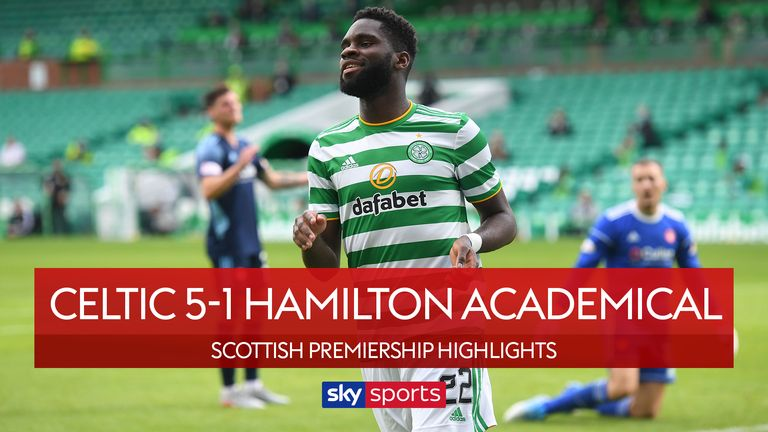 Highlights from the SPFL match between Celtic and Hamilton