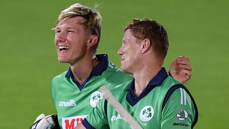 Kevin O'Brien struck the winning run as Ireland completed a superb seven-wicket victory over England in the third ODI at The Ageas Bowl