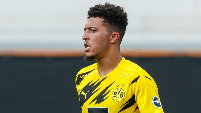 Sky Sports News' Dharmesh Sheth says Manchester United do not want to pay £108m outright for Jadon Sancho and have always had that view throughout the transfer window