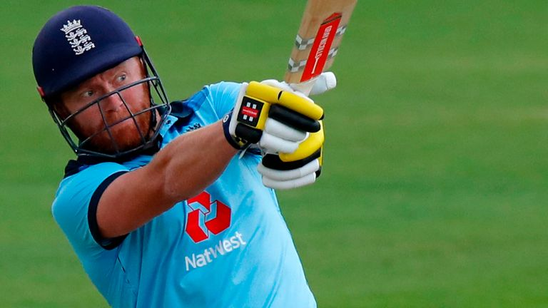 Bairstow hit the joint fastest fifty for England, reaching his half-century off just 21 balls.