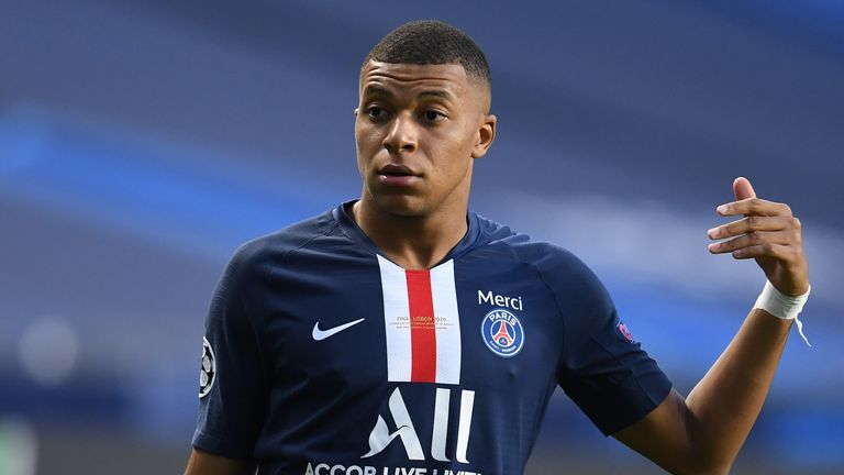 PSG forward Kylian Mbappe wasted a couple of early chances when released