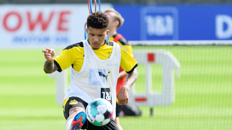 Manchester United and Borussia Dortmund are 'miles apart' in their valuation of Jadon Sancho, according to James Cooper