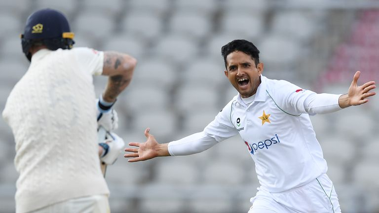 Ben Stokes was out for a duck as Mohammad Abbas hit his off stump with a peach of a delivery.