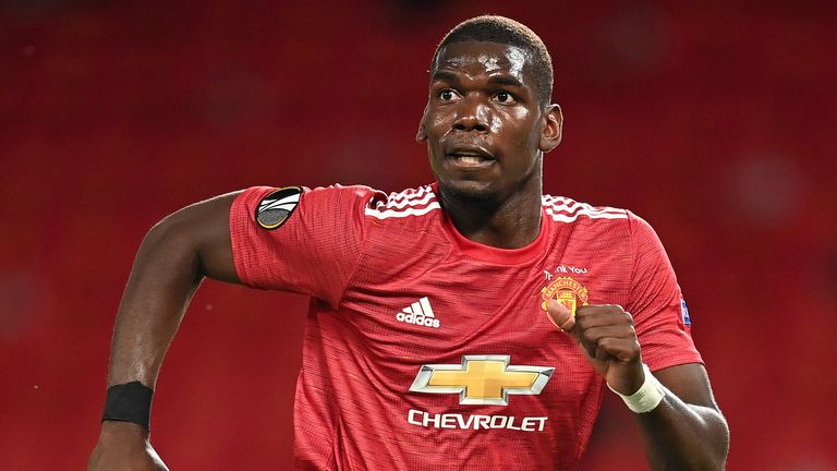 Paul Pogba came on for Manchester United