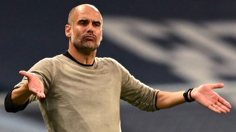 Pep Guardiola was delighted to see his Manchester City side handle the pressure and knock Real Madrid out of the Champions League.