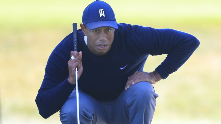Tiger Woods during the second round of the PGA Championship