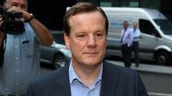 Former Conservative MP Charlie Elphicke arriving at Southwark Crown Court in London to be sentenced for three counts of sexual assault.