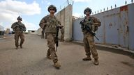US troops at the K1 Air Base northwest of Kirkuk in northern Iraq