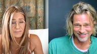 Jennifer Aniston and Brad Pitt. Pic: CORE
