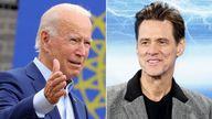 Joe Biden and Jim Carrey