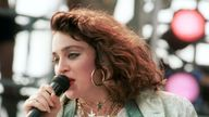 Madonna performs for a sold out crowd at the Live Aid concert at JFK Stadium in Philadelphia, Pennsylvania, July 13, 1985. Photo by Frank Micelotta/ImageDirect.