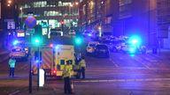 Scene of the Manchester Arena attack in 2017