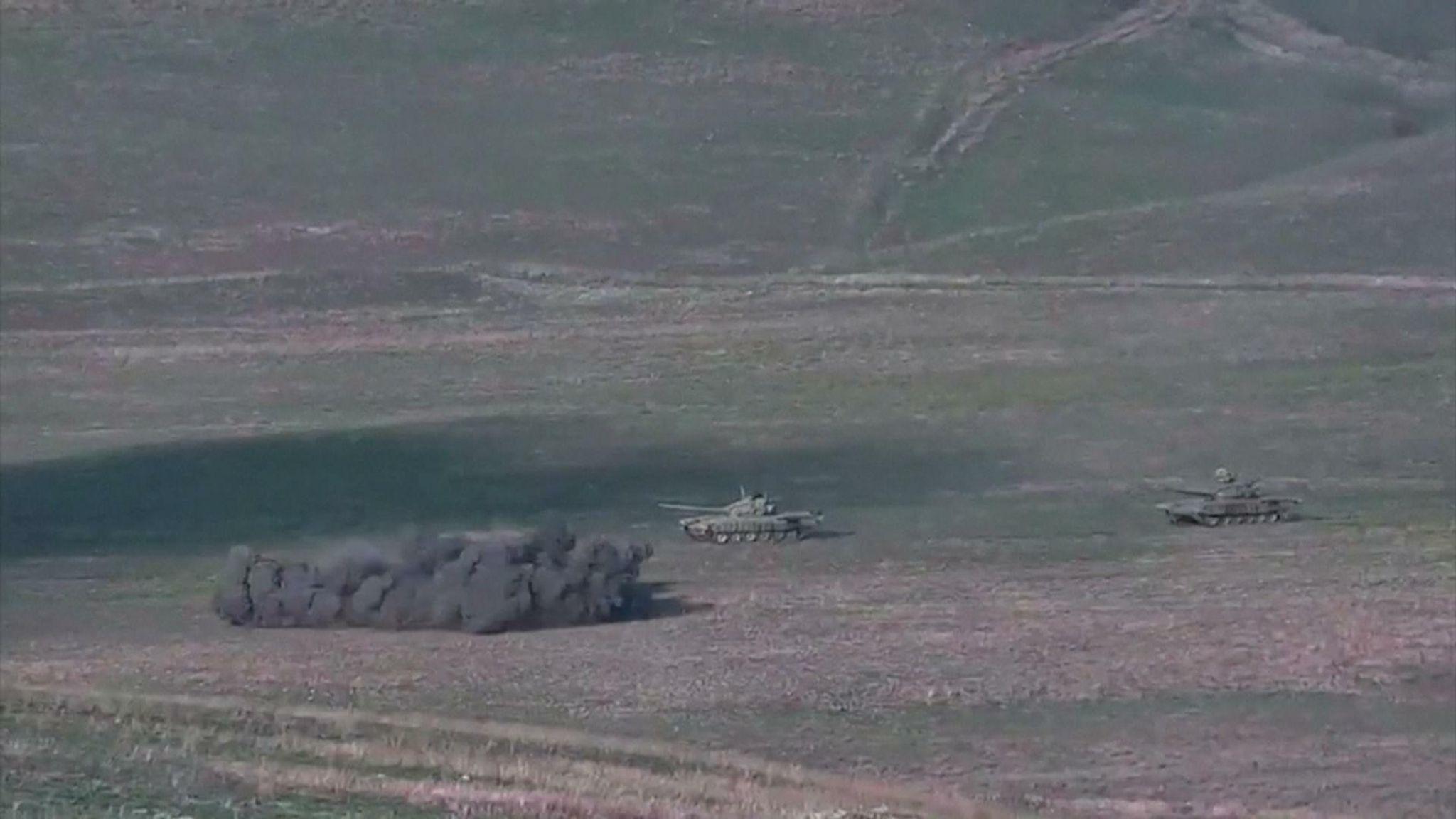 Azerbaijani tanks destroyed, says Armenia | World News | Sky News