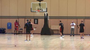 Miami Heat stars show off footy skills!