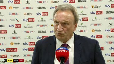 Warnock: Watford were fortunate