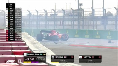 Big crash for Vettel!