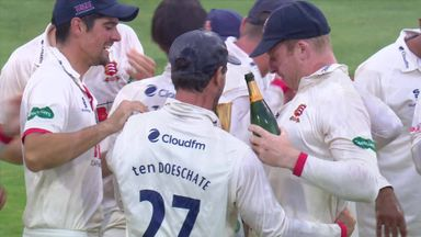 Essex's champagne celebration at Bob Willis Trophy