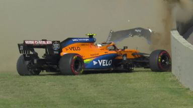 Big crash for Lando Norris!