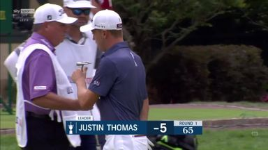 Thomas leads after closing birdie