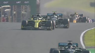Ricciardo and Bottas battle for second