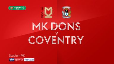 MK Dons 0-1 Coventry