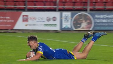 Ashton TRY to win it for Warrington!
