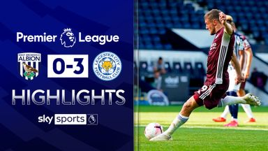 Vardy strikes twice to see off West Brom