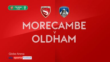 Morecambe 1-0 Oldham