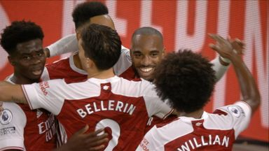 Lacazette heads Arsenal in front (25)