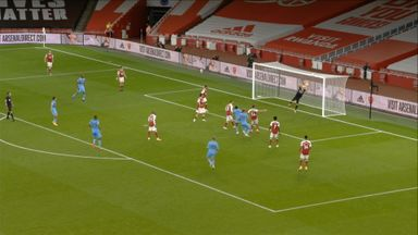 Antonio hits the post (67)