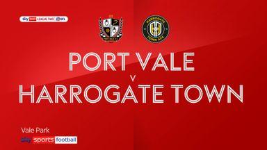 Port Vale 0-0 Harrogate Town