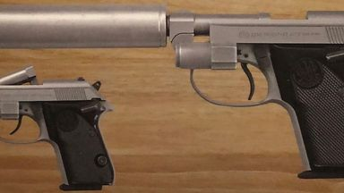 A Beretta 'Tomcat'Auto pistol that appeared in Die Another Day is among the stolen guns