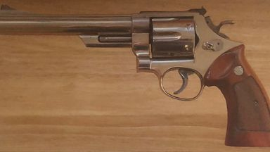 A Smith and Wesson revolver used in the film Live And Let Die was stolen in the burglary