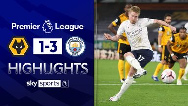Classy De Bruyne helps City beat Wolves