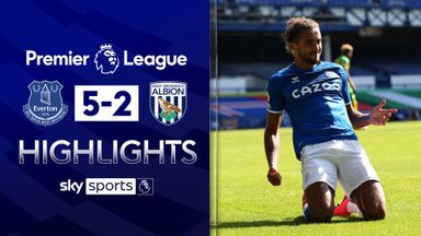 Calvert-Lewin hat-trick sinks ten-man WBA