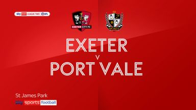 Exeter 0-2 Port Vale