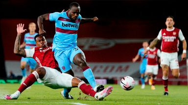 HT Arsenal 1-1 West Ham