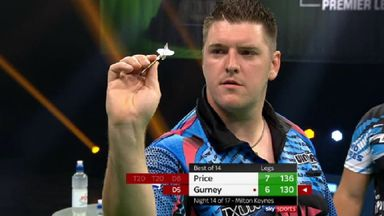 Gurney denies Price win with 130 checkout