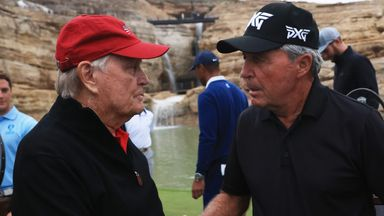 Nicklaus and Player in par-3 challenge!